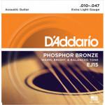 D'Addario EJ15 Phosphor Bronze Extra-Light (010 - 047)