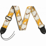 Fender Monogrammed Strap White/Brown/Yellow